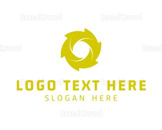 Rotate - Green Spiral logo design