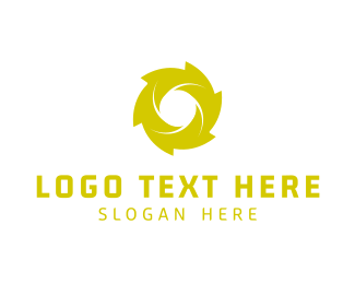 Propeller - Green Spiral logo design