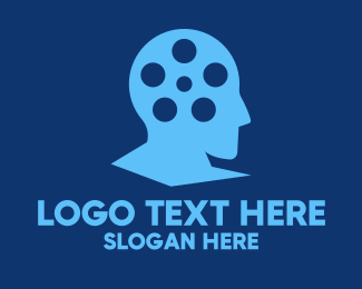 Scriptwriter - Blue Filmmaker Director logo design