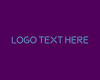 Font - Blue & Purple Neon Text logo design