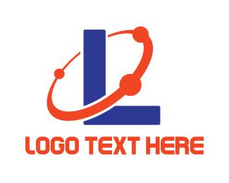 Astrology - Blue L Planet logo design