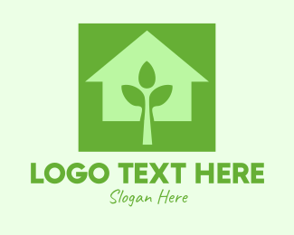 Home Garden - Plant Community House logo design