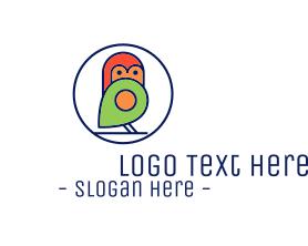 Little - Cute Little Bird Locator logo design