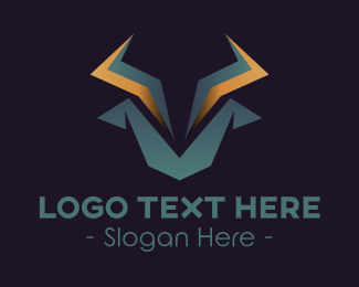 Investment - Geometric Tech Bull logo design