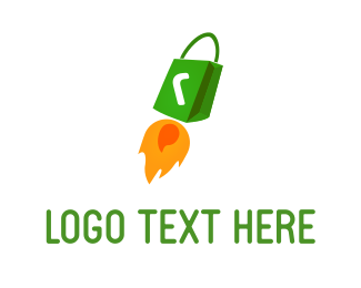 Shopping Bag - Rocket Bag logo design