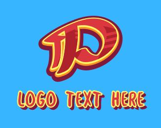 Graffiti  Art - Graffiti Art Letter P logo design