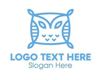 Sleep - Owl Pillow logo design