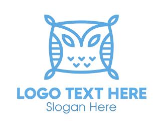 Nap - Owl Pillow logo design