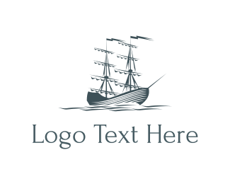 Water - Ocean & Sailboat logo design