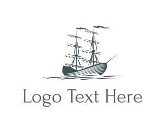 Sail - Ocean & Sailboat logo design