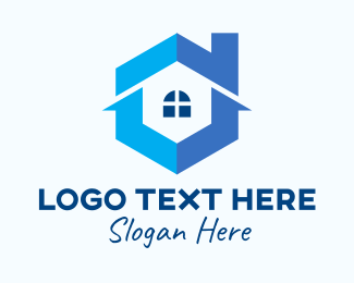 Realtor - Blue Real Estate Home logo design
