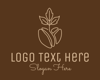 Bean - Organic Coffee Bean logo design