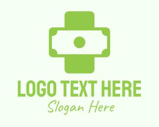 Purchase - Green Medical Money Bill logo design