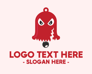 Cartoonish - Spooky Red Bell logo design