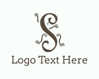 Lizard - Animal Letter S logo design