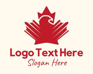 Maple - Eagle Maple Leaf logo design