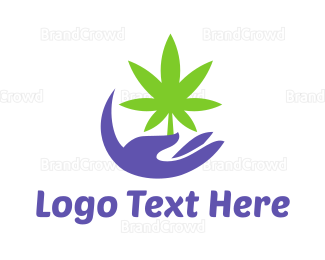 Joint - Cannabis Hand logo design