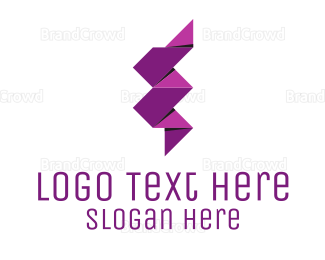 Thunderbolt - Lightning Ribbon logo design