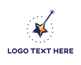 60s - Star Guitar logo design