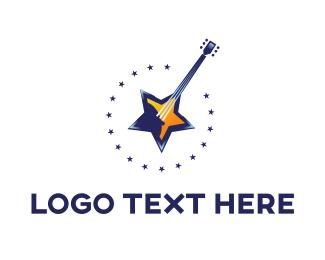 Concert - Star Guitar logo design