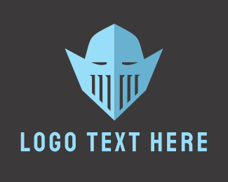 Soldier - Knight Helmet logo design