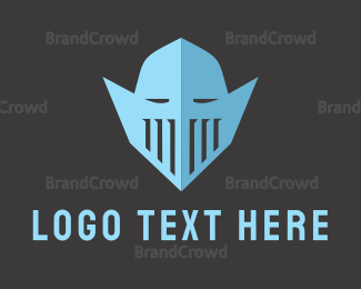 Armor - Knight Helmet logo design