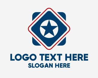 Weight Training - Sporty Star Diamond logo design