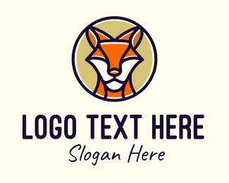 Woodland - Monoline Wild Kangaroo  logo design