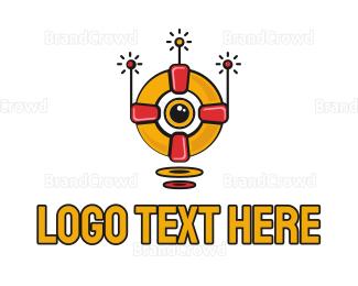Droid - Robot Lifeguard logo design
