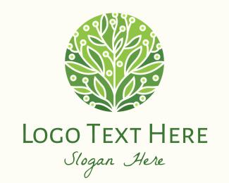 Produce - Green Flowering Tree logo design