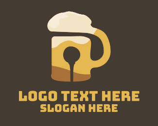 Craft Brewery - Golf Tee Beer Mug logo design