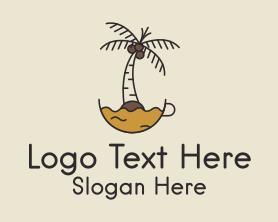 Coffee - Coconut Coffee logo design