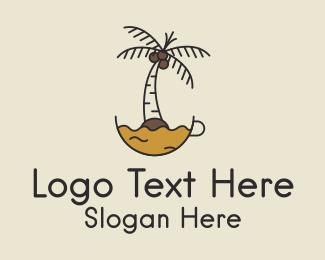 Coconut Tree - Coconut Coffee logo design