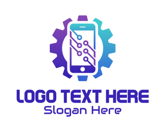 Touchscreen - Phone Technology Repair  logo design