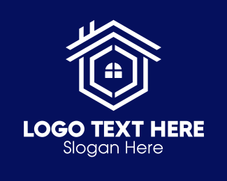 Home Development - Home Geometric Construction Circle logo design