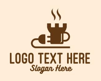 Plug - Castle Coffee Shop Plug logo design