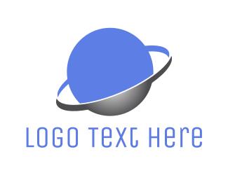 Astronomy - Purple Planet logo design