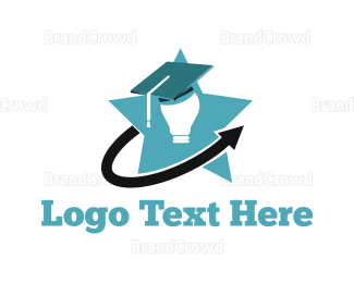 Bulb - Bright Student logo design