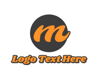 Bold - Cursive Bold M  logo design