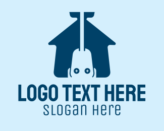Dirt - Vacuum Cleaner House  logo design