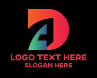 Ad - Gradient D & A  logo design
