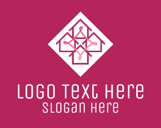 Neighborhood - Pink House Neighborhood  logo design