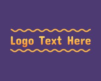 Text - Gradient Yellow Text Wordmark logo design