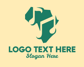 Music Licensing - Africa Music Map  logo design