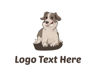 Bone - Dog with Bone logo design