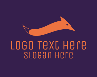 Orange Wave - Fox Tail Wave logo design