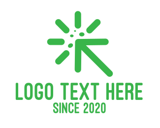 Loading - Green Virus Cursor logo design