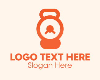 Timer - Orange Kettlebell Timer logo design