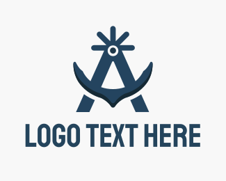 Oceanic - Arctic Anchor logo design