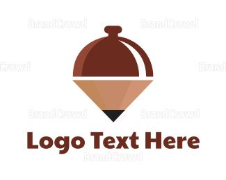 Food Blog - Creative Food Pencil logo design